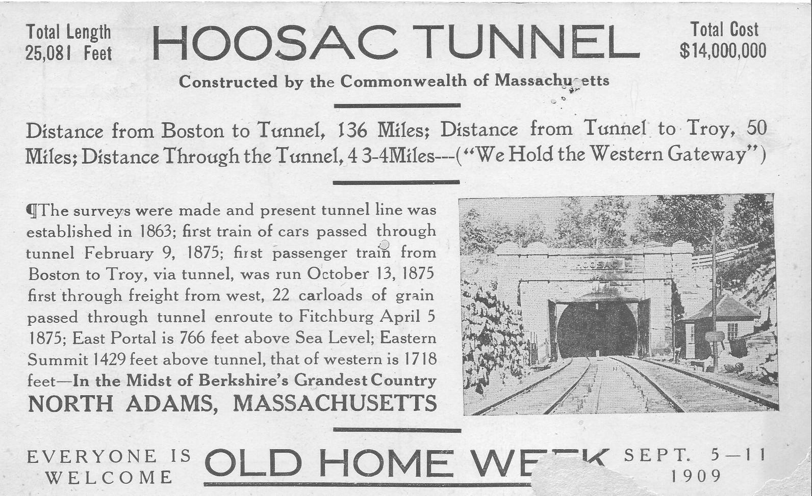 Hoosac Tunnel | Hoosac Tunnel - Florida and North Adams, MA
